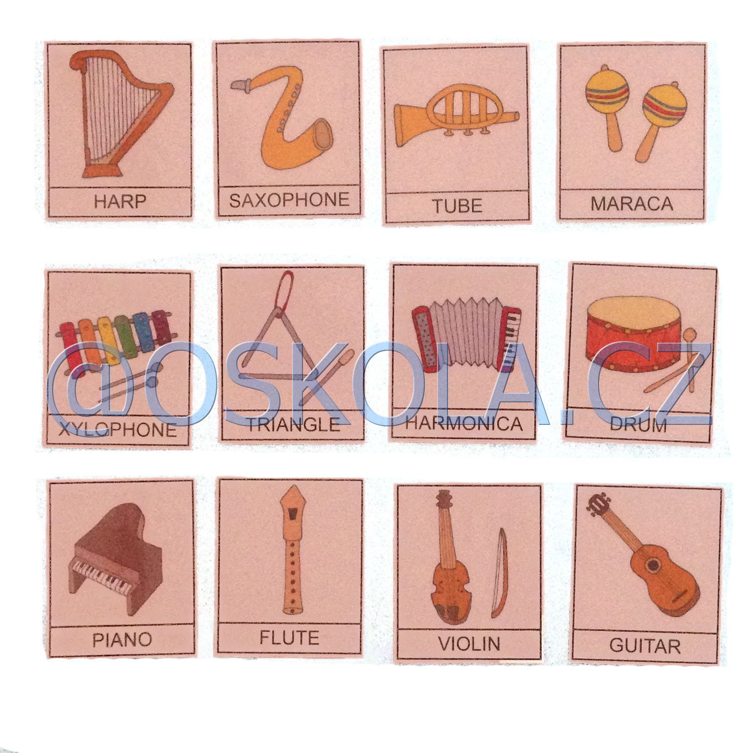 Musical instrument - English cards